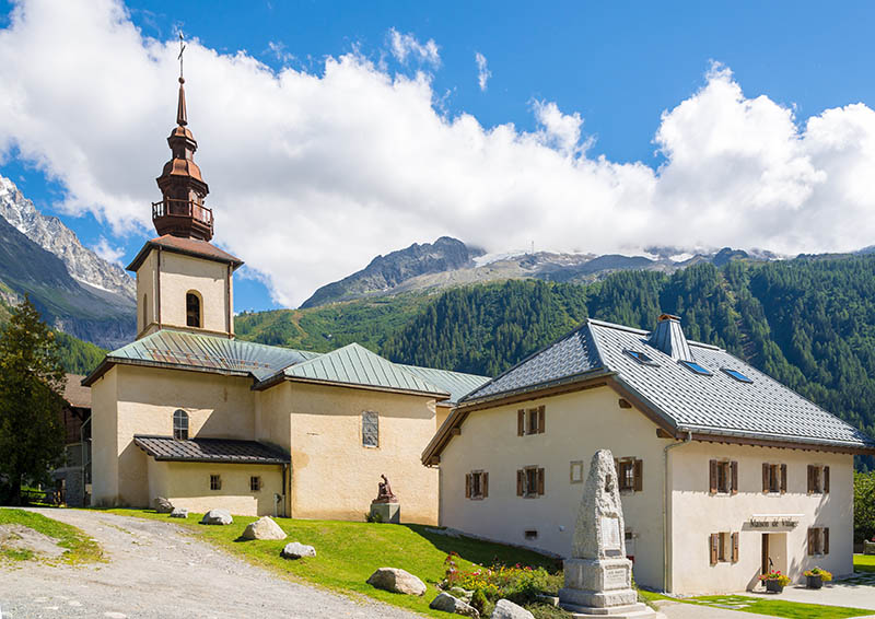 Church Saint-Pierre d Argentiere in France