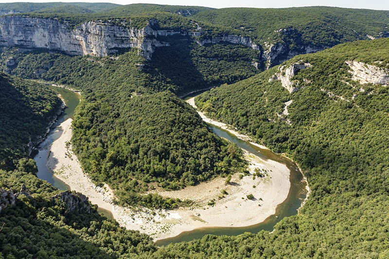 The river Ardeche in South France, Europe