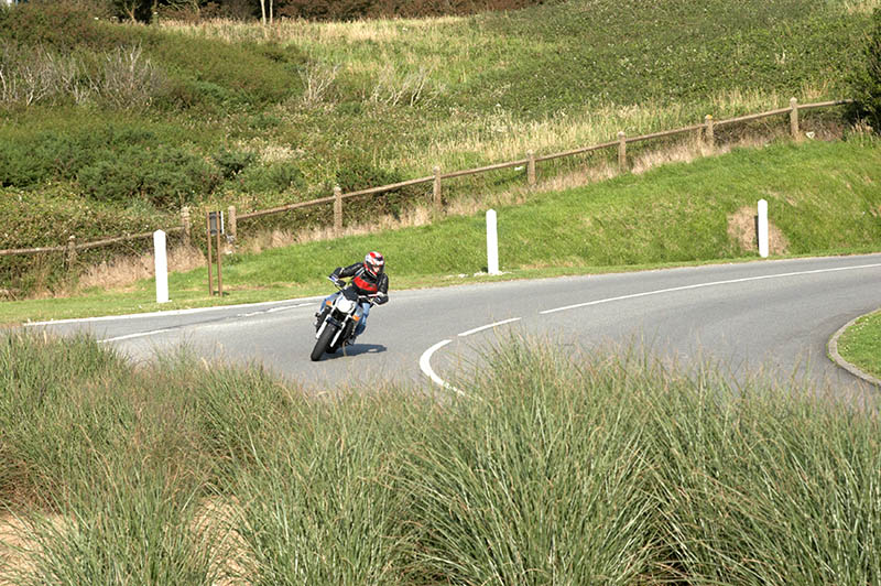 Motorcyclist on Hairpin bend