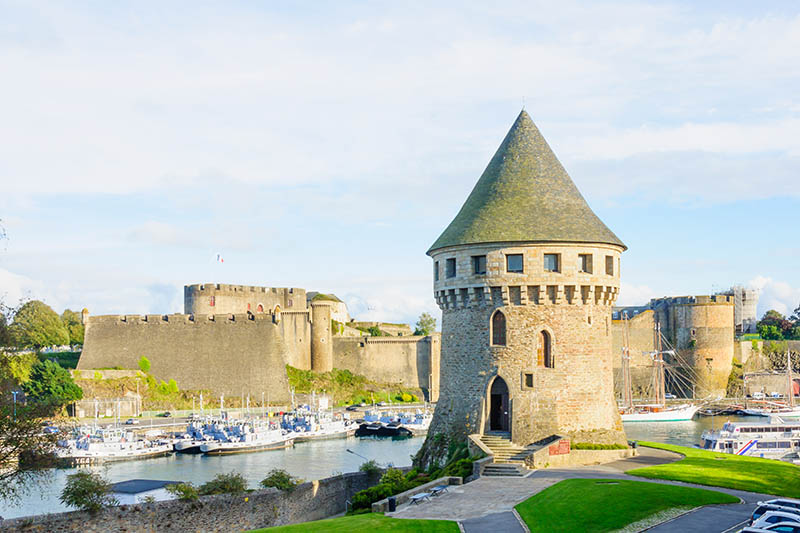 Brest, France - September 28, 2012: View of the entrance of the port, in Brest, Brittany, France