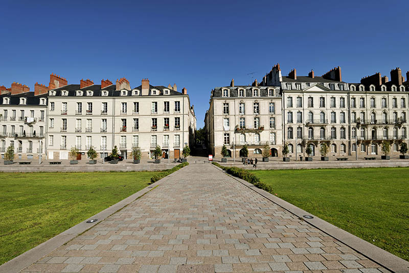 France, Loire Atlantique, Nantes, ship owners houses in Quai Turenne on the former Ile Feydeau