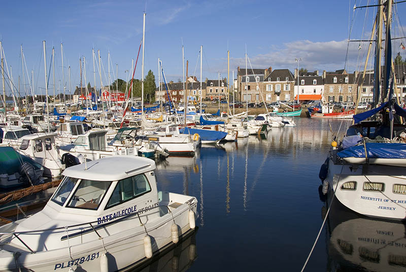 Boats in harbour, Paimpol, Baie de Saint Brieuc, Brittany, France