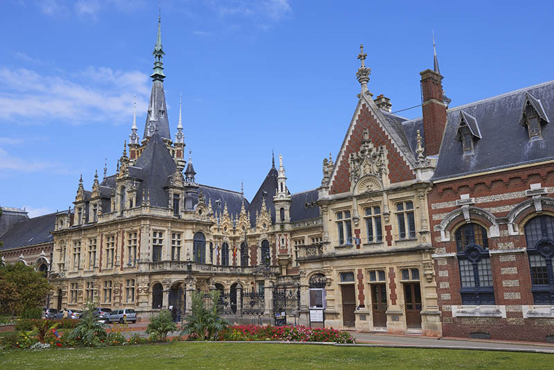 Normandy, Fecamp, The Palais Benedictine, Seine-Maritime department, Pays de Caux, Cote d´Albatre, Alabaster Coast, Upper Normandy, France.
