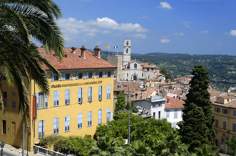 International Perfume Museum & View of the Old Town Grasse Alpes-Maritimes France.
