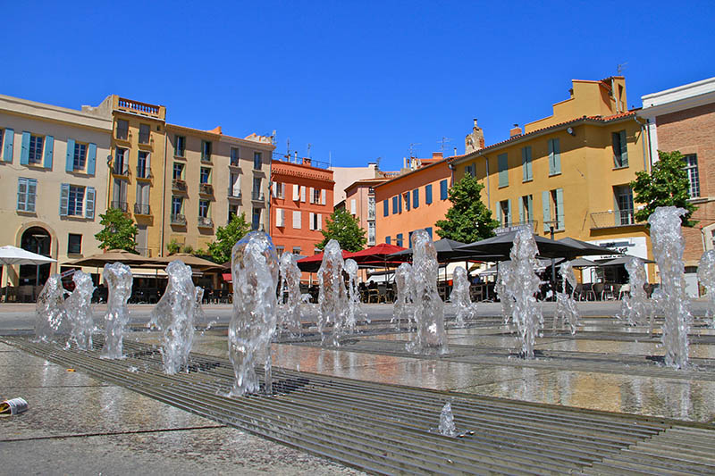 Southern atmosphere in Perpignan (south of france)