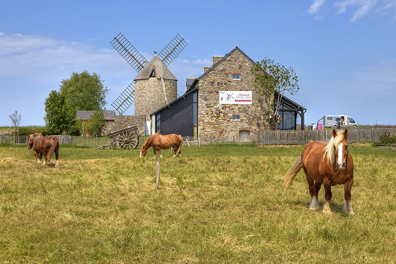 mill in Cherrueix, Brittany, France