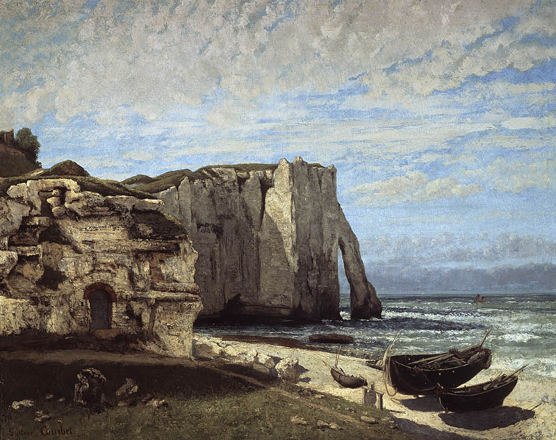 Falaises d´Etretat Apres l´Orage The Cliffs Of Etretat After A Storm 1870 Gustave Courbet 1819_1877 French Musee d´Orsay, Paris, France