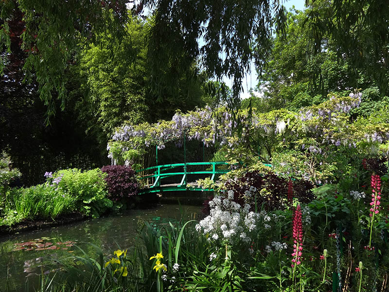 The Japanese bridge in Giverny, Normandy, France at Monet's water lily pond.