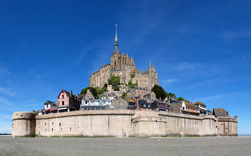 View of the Mont Saint-Michel - department of Manche (France)