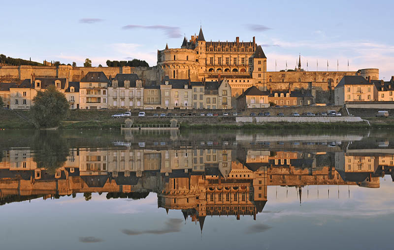 France, Indre et Loire, Amboise castle in the Loire valley