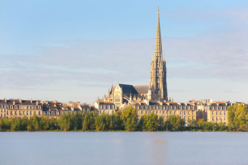 View of Bordeaux at a summer morning