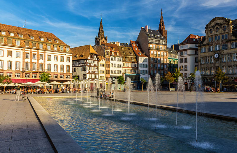 Place Kleber in Strasbourg - Alsace, France