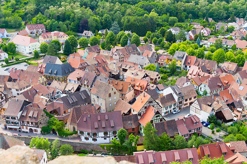 idyllic Wine Village of Kaysersberg in Alsace, France near de Colmar