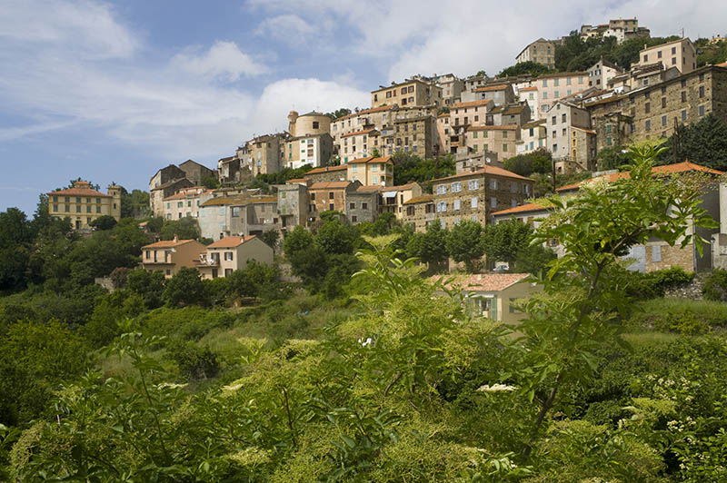 France, Corsica. Mountain village of Pieve.