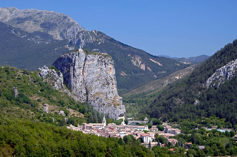 Castellane & the Rock of Castellane Verdon Valley Alpes-de-Haute-Provence Provence France
