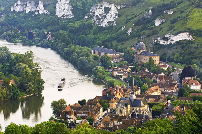 Meander of Seine river, Les Andelys Seine valley, Normandy, France