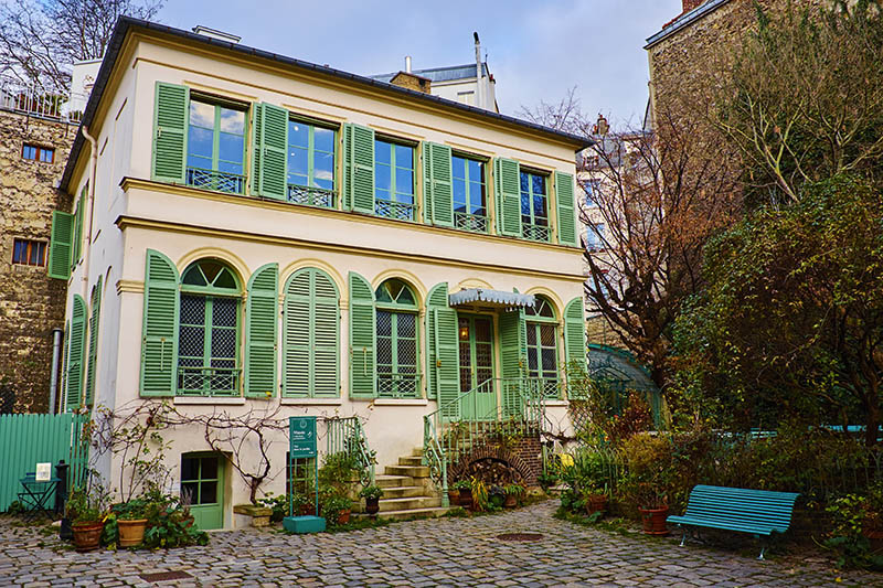 France, Paris, Vie Romantique museum in Nouvelle-Athenes quarter.