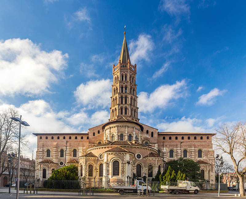 Basilica of St. Sernin in Toulouse, France