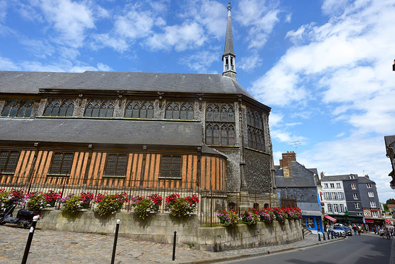 Honfleur, France - July 30, 2017: Saint-Catherine's Church in Honfleur, France. The oldest part of the church dating to the second half of the 15th century, constructed right after Hundred Years War