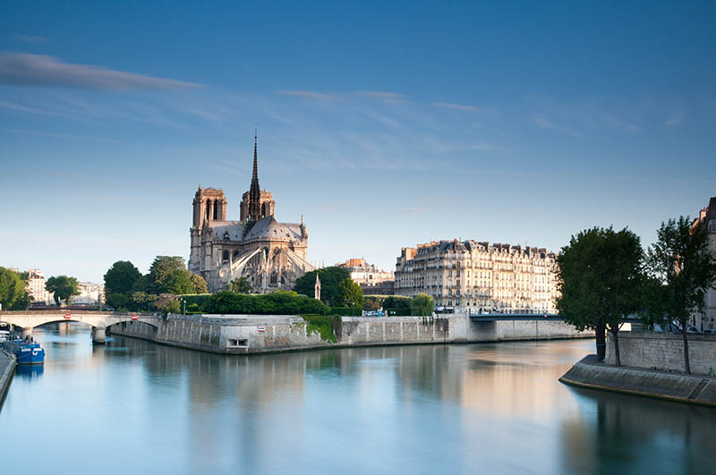 Notre Dame Cathedral along the Seine river