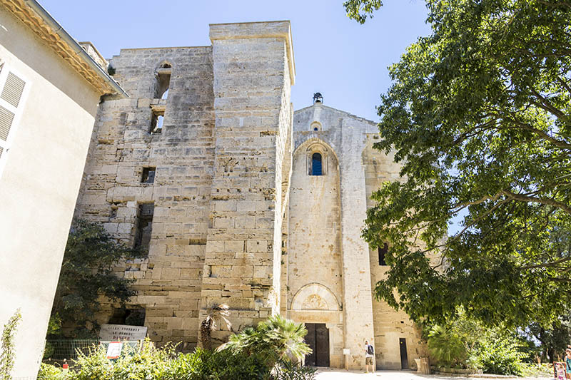 Maguelone Cathedral, a former Roman Catholic church in the Herault department of southern France