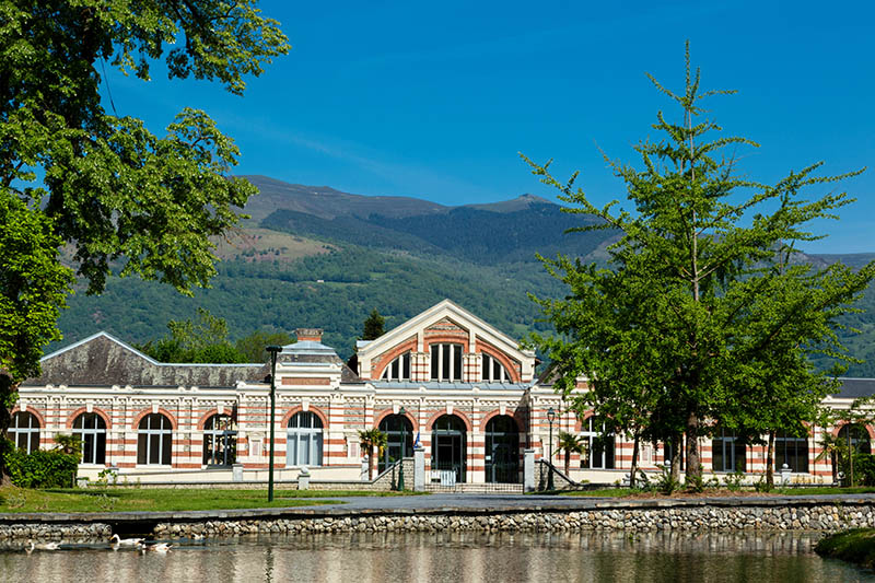 The termae building at Bagneres de Bigorre, Haute Garonne, France