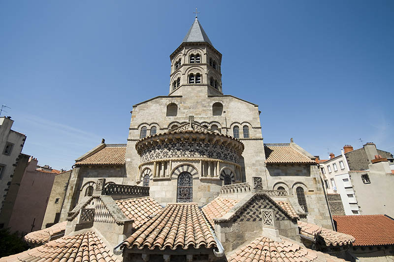 France, Puy de Dome, Clermont Ferrand, Romanesque basilica of Notre Dame du Port, listed as World Heritage by UNESCO, Way of Saint Jacques de Compostela in France