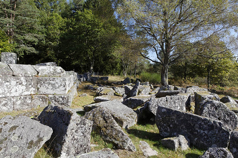 Gallo-Roman archaeological site of Les Cars Saint Merd les Oussines Parc Naturel Regional de Millevaches en Limousin Millevaches Regional Natural Park Correze France Europe