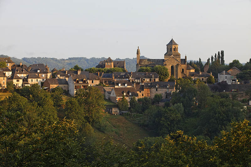 Aubazine Abbey and the village, towards Tulle, Correze, France, Europe