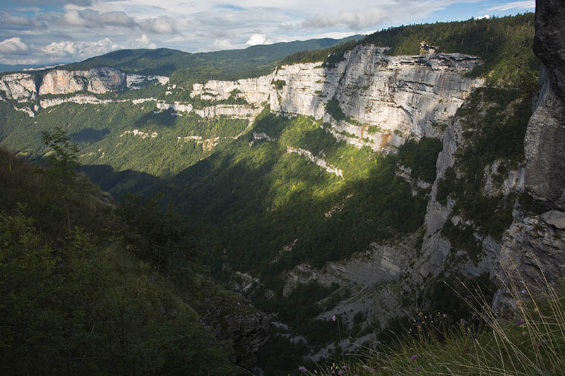 The western scarp of the Vercors Mountains at Combe Laval, from Col de La Machine, east France.