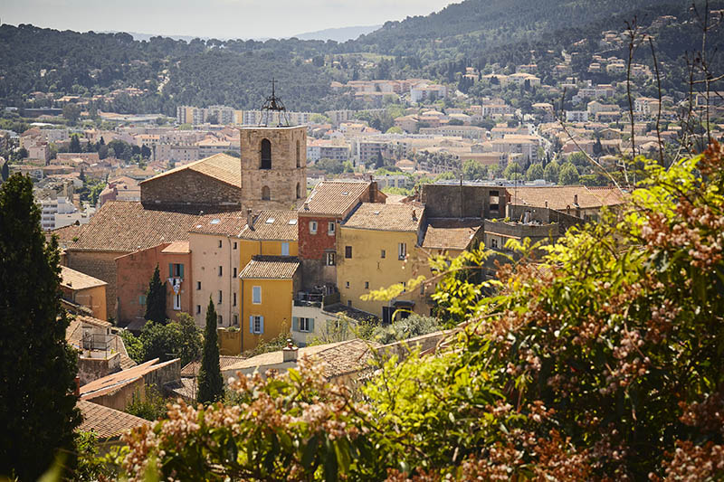 Houses at Hyeres in the mediterranean coast of France