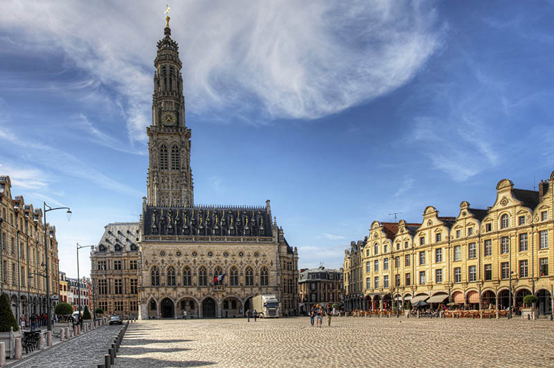 The Place des Heros in Arras in France