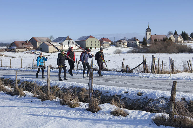 cross_country skiing, ski, tourism, holidays, winter, snow, winter sports, France, group, sport, GTJ, grande Traversée du Jura, Jura