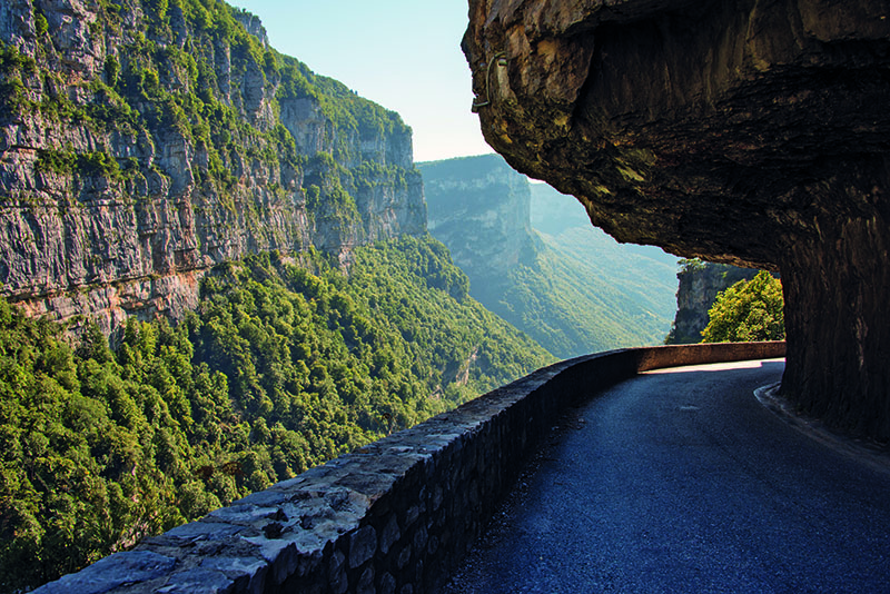 A tunnel in the Vercors range on the 'Combe Laval' road. France