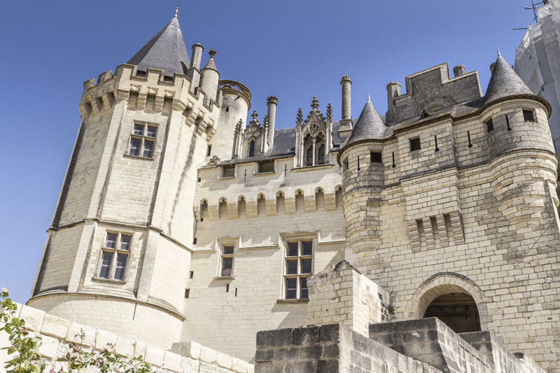 Saumur, France - August 22, 2015: The Château de Saumur, originally built as a castle and later developed as a château, is located in the French town of Saumur, in the Maine-et-Loire département. It was originally constructed in the 10th century