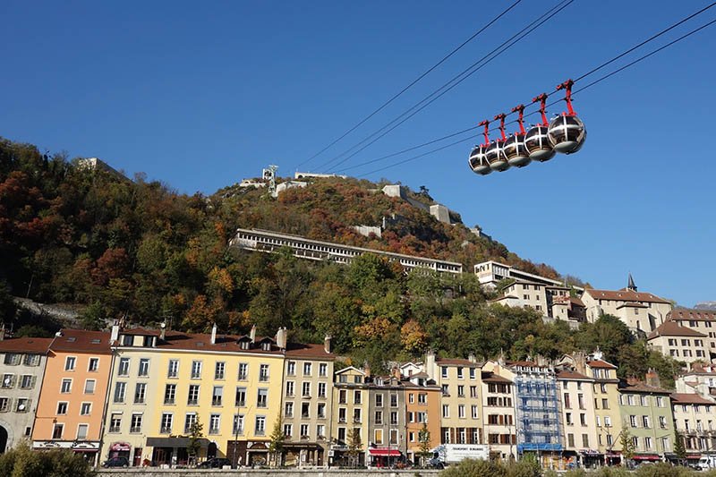 Grenoble Street View and Cable Cars