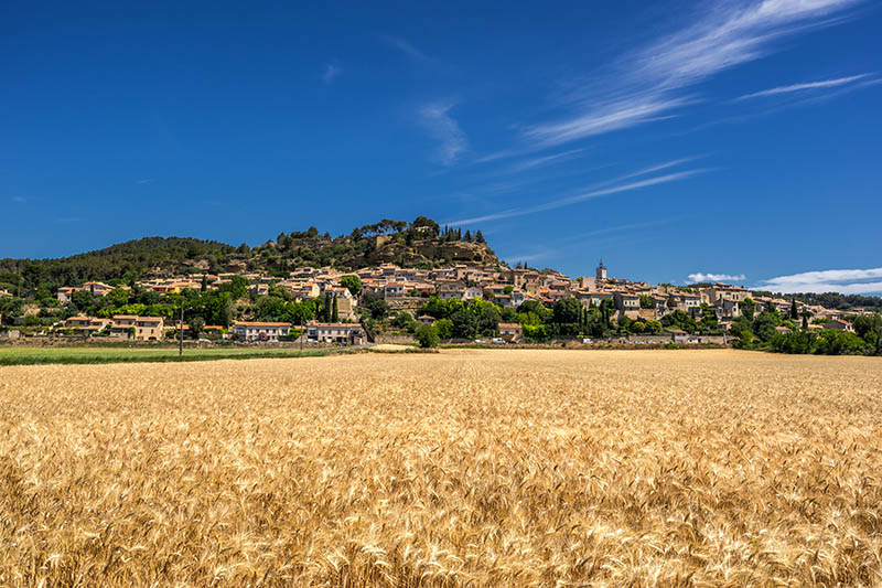 The hill top village of Cadet in Provence France