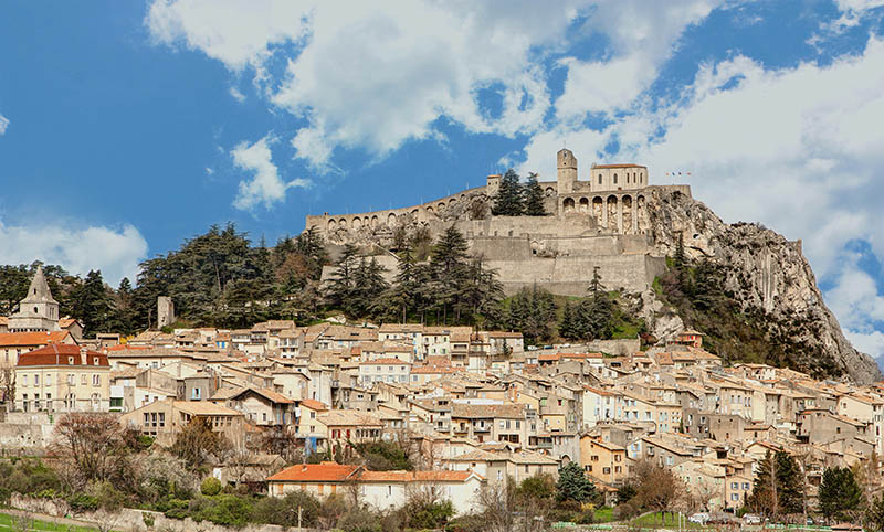 Sisteron and its citadel - Alpes-de-Haute-Provence - France